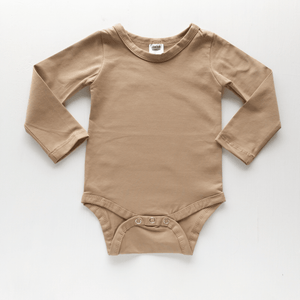 PRE ORDER Long Sleeve Bodysuit Tan