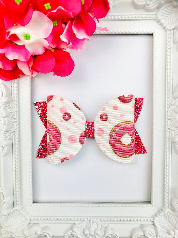 Sprinkled Donut Bow
