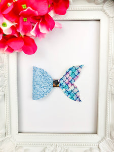Blueberry Mermaid Tail Bow