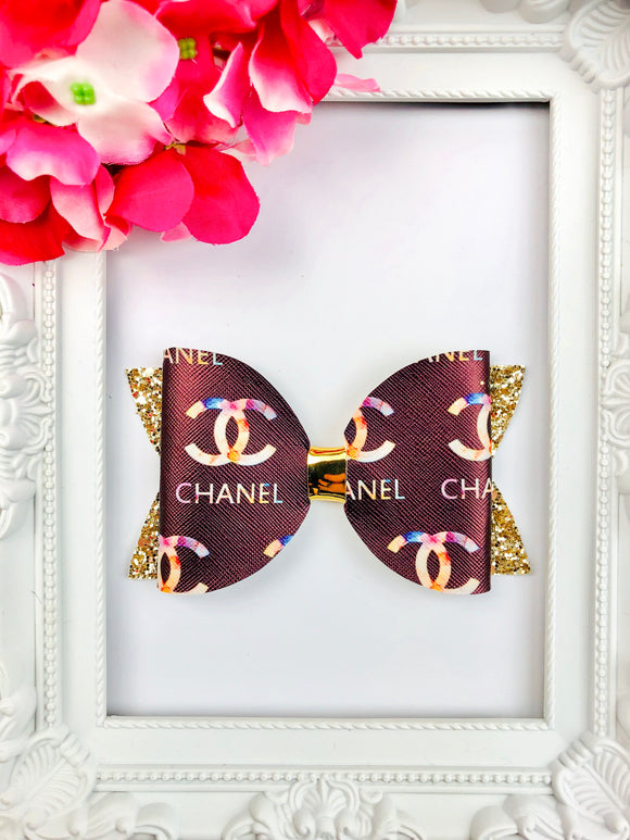 Watercolour Chanel Bow