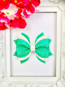 Snowy Mint Bow