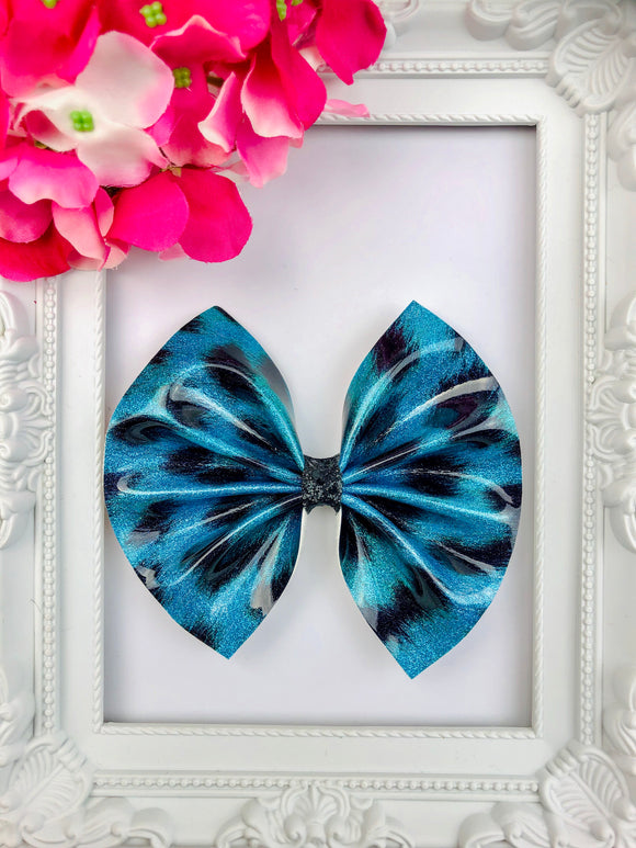 Blue Leopard Bow