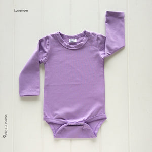 Lavender Long Sleeve Bodysuit