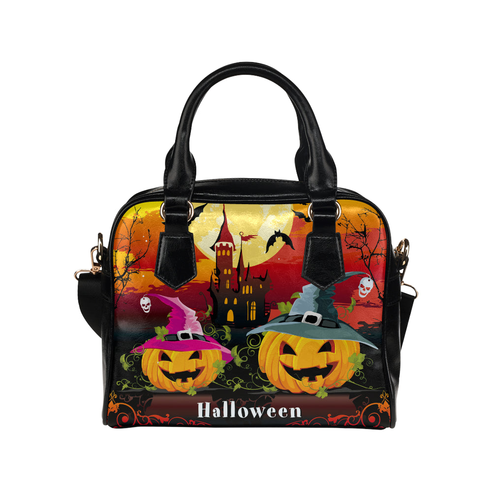 Halloween Pumpkins Bat Shoulder Handbag - CRE8Custom