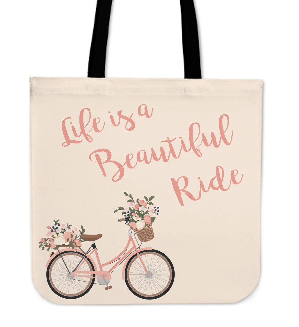 Life is Beautiful Ride Tote Bag