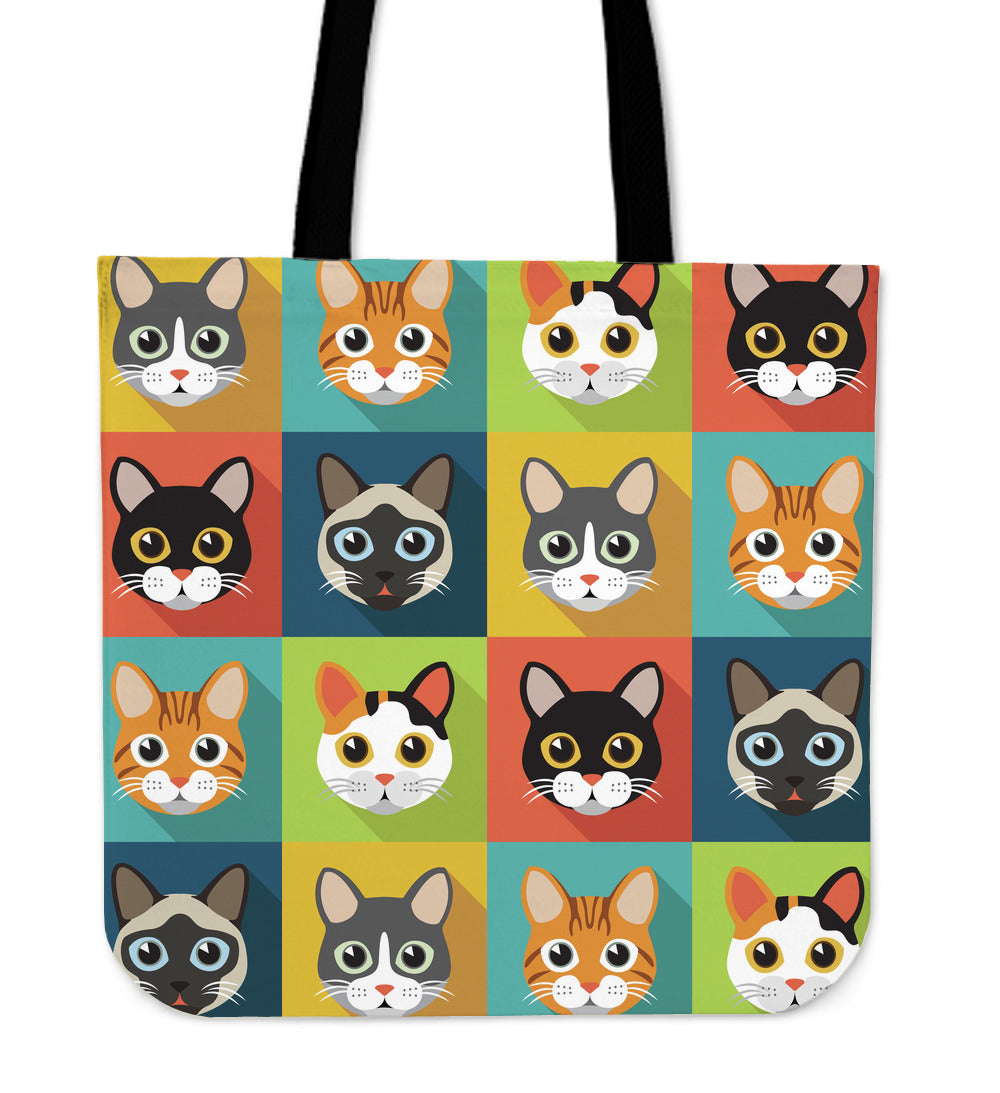 Cute Cats Tote Bag for Cat Lovers - CRE8Custom
