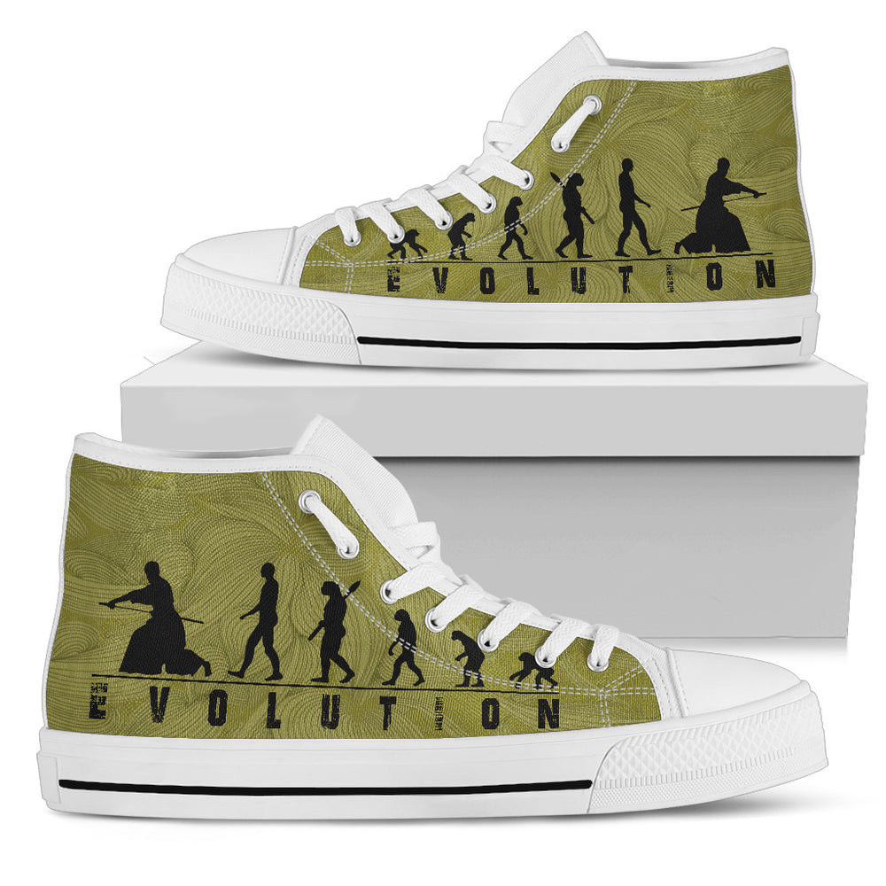 Aikido Men's High Top Shoes Casual Shoes - CRE8Custom