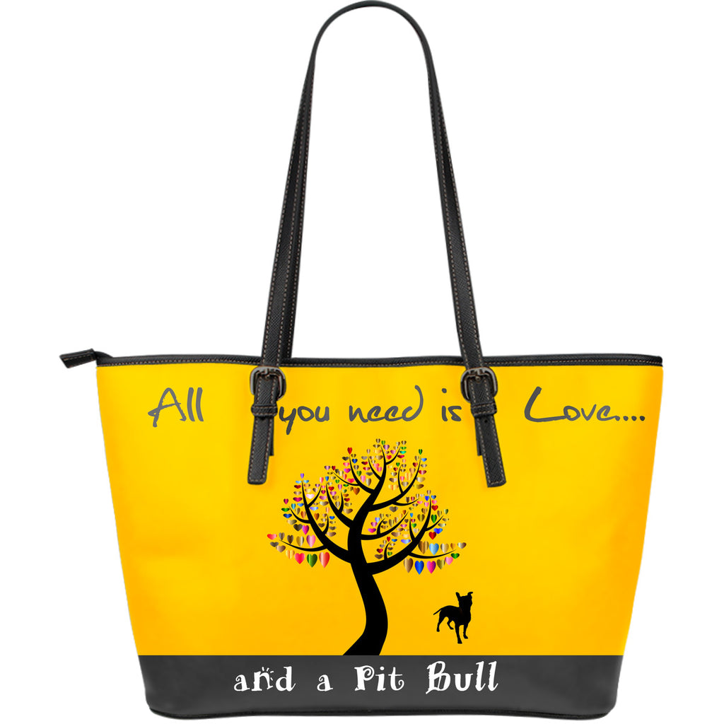 All You Need Is Love And A Pitbull Yellow - CRE8Custom