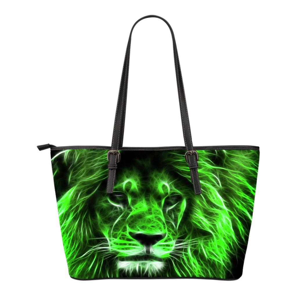 Electric Lion Leather Small Handbag - CRE8Custom