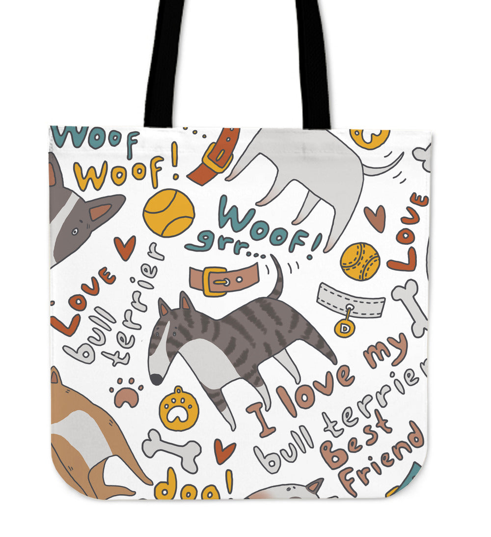 I Love My Bull Terrier Tote - CRE8Custom