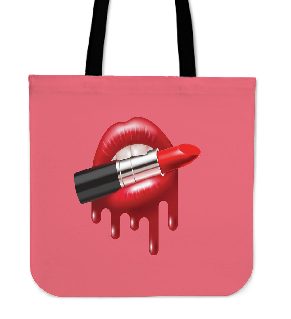Dripping Lipstick Tote Bag - CRE8Custom