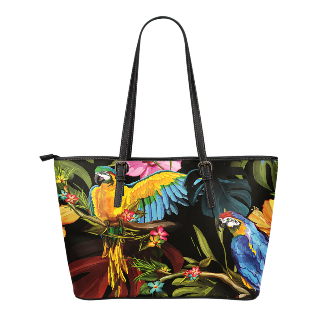 Parrot Small Leather Tote
