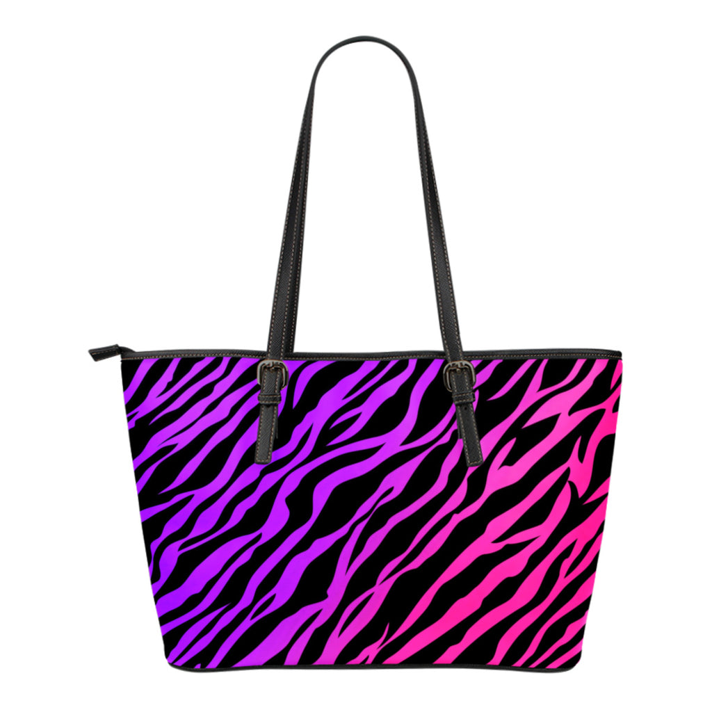 Rainbow Zebra Leather Small Handbag