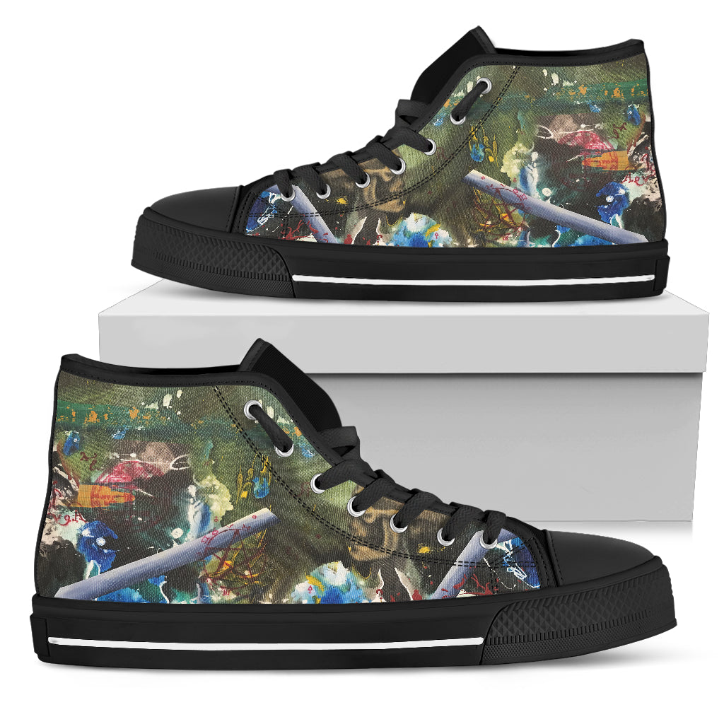 Amazing Prints Men's High Top Shoes Casual Shoes - CRE8Custom