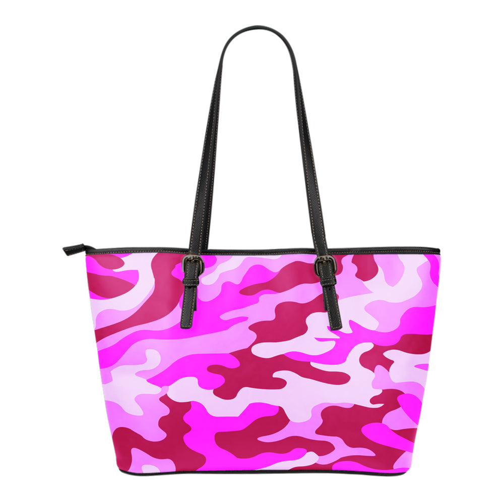 Pink Camouflage Leather Small Handbag