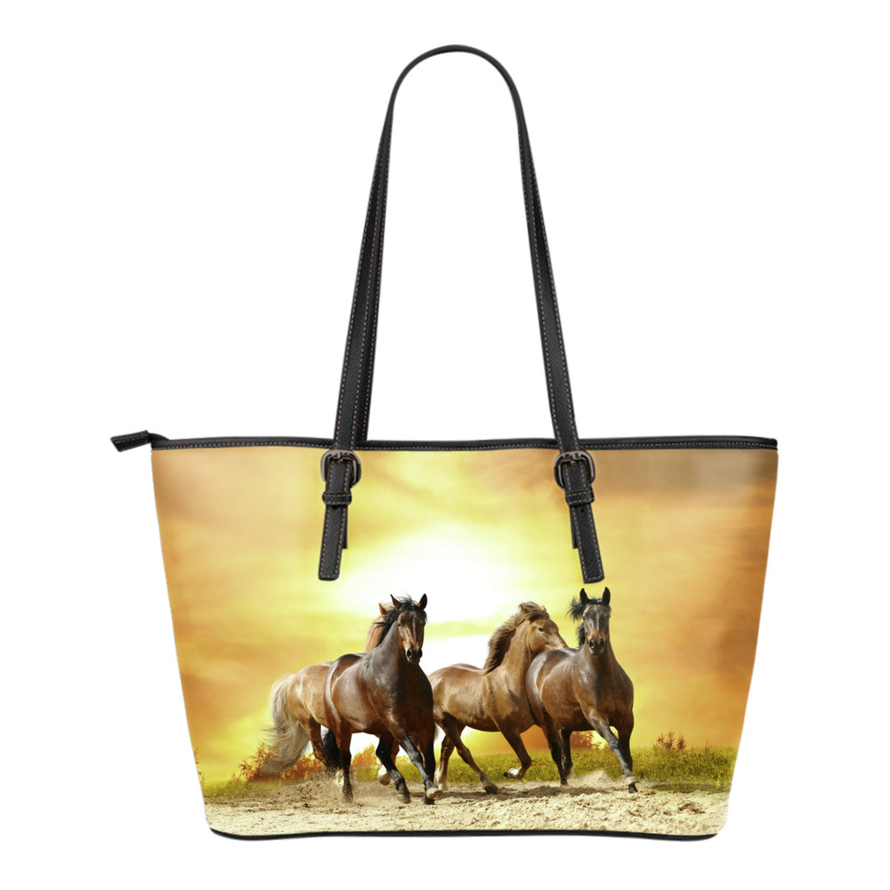 Wild Horses Leather Small Handbag