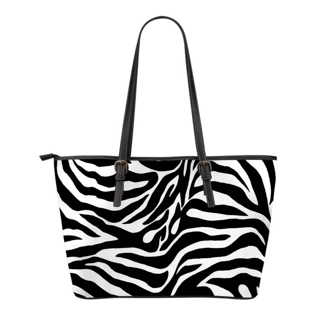 Zebra Print Small Leather Handbag