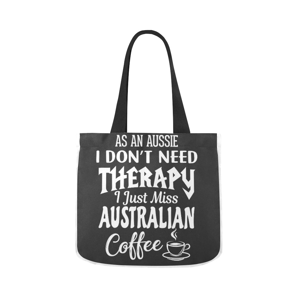 Australian Coffee Vintage Black Premium Quality Canvas Tote Bag 02 Model 1603 (Two sides) - CRE8Custom