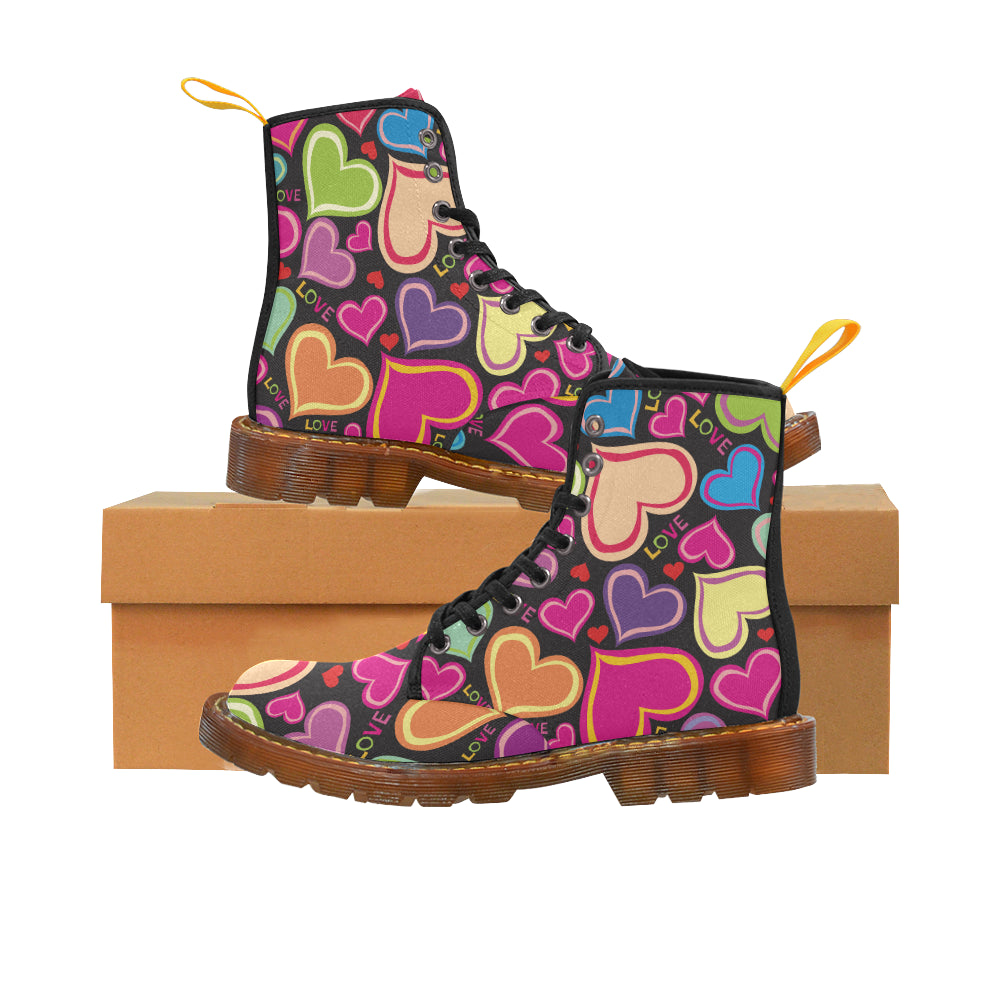 Color Love Martin Style Boots For Women - CRE8Custom
