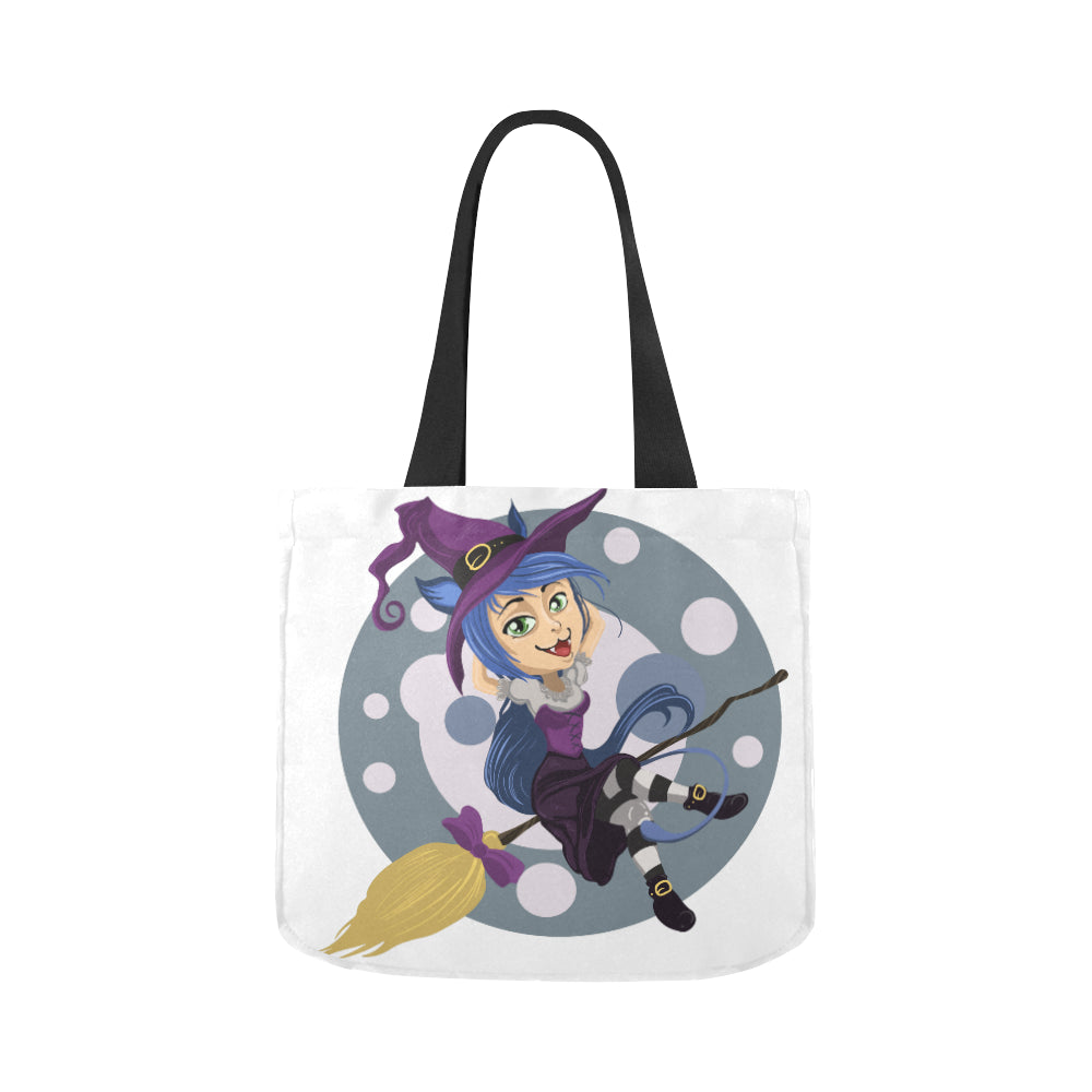 Halloween Witch Premium Quality Canvas Tote Bag 02 Model 1603 (Two sides)