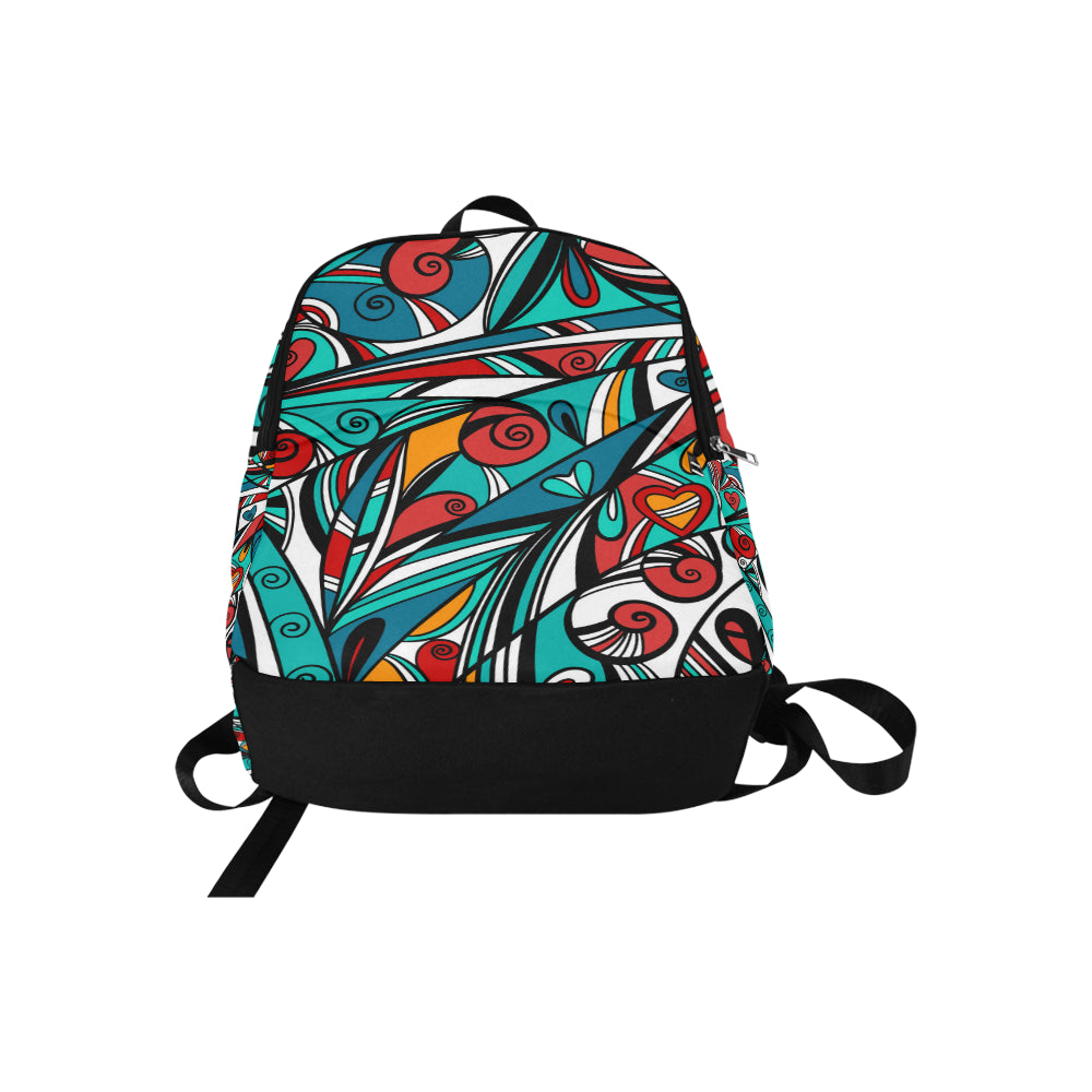 Colorful abstract background Fabric Backpack for Adult - CRE8Custom