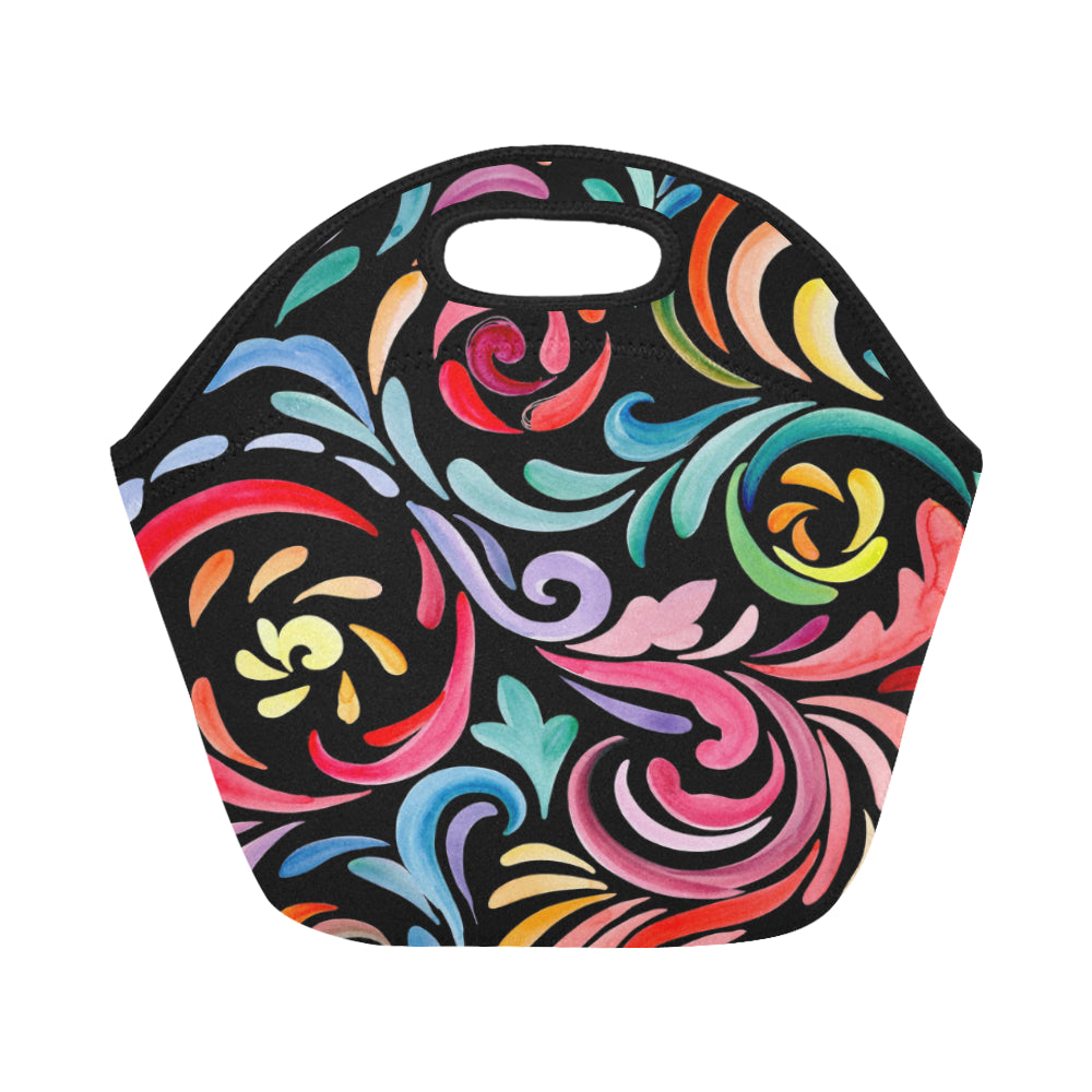 Watercolor Leaves Neoprene Lunch Bag/Small