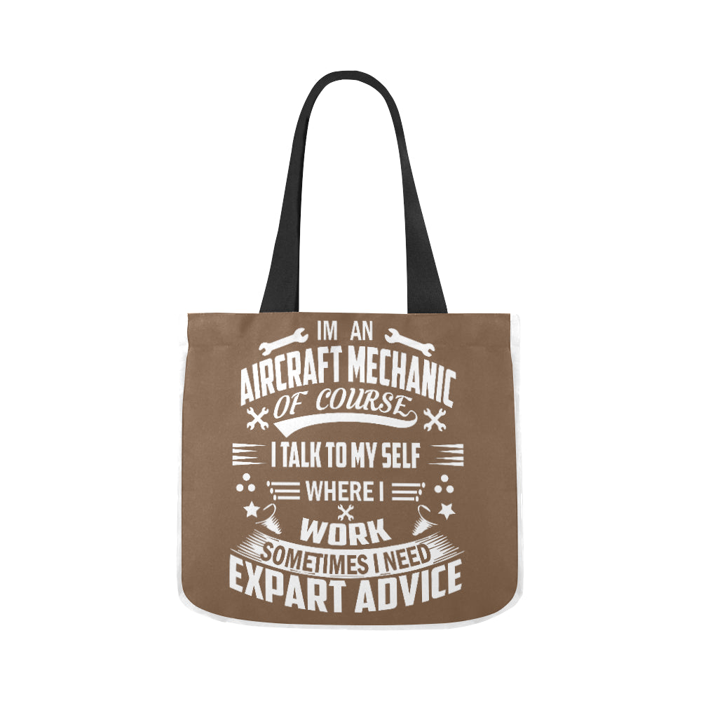 Aircraft Mechanic Advive Design Premium Quality Canvas Tote Bag 02 Model 1603 (Two sides) - CRE8Custom