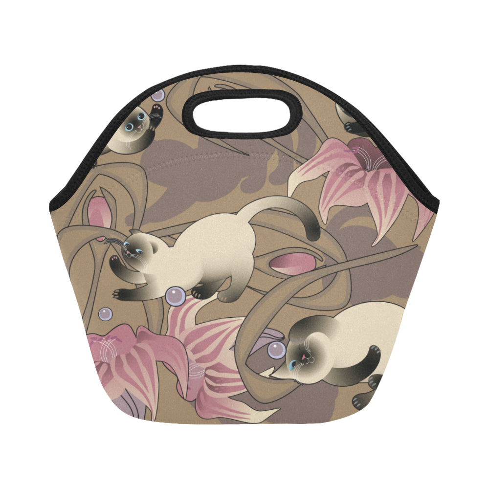 Cut Cat Neoprene Lunch Bag/Small - CRE8Custom
