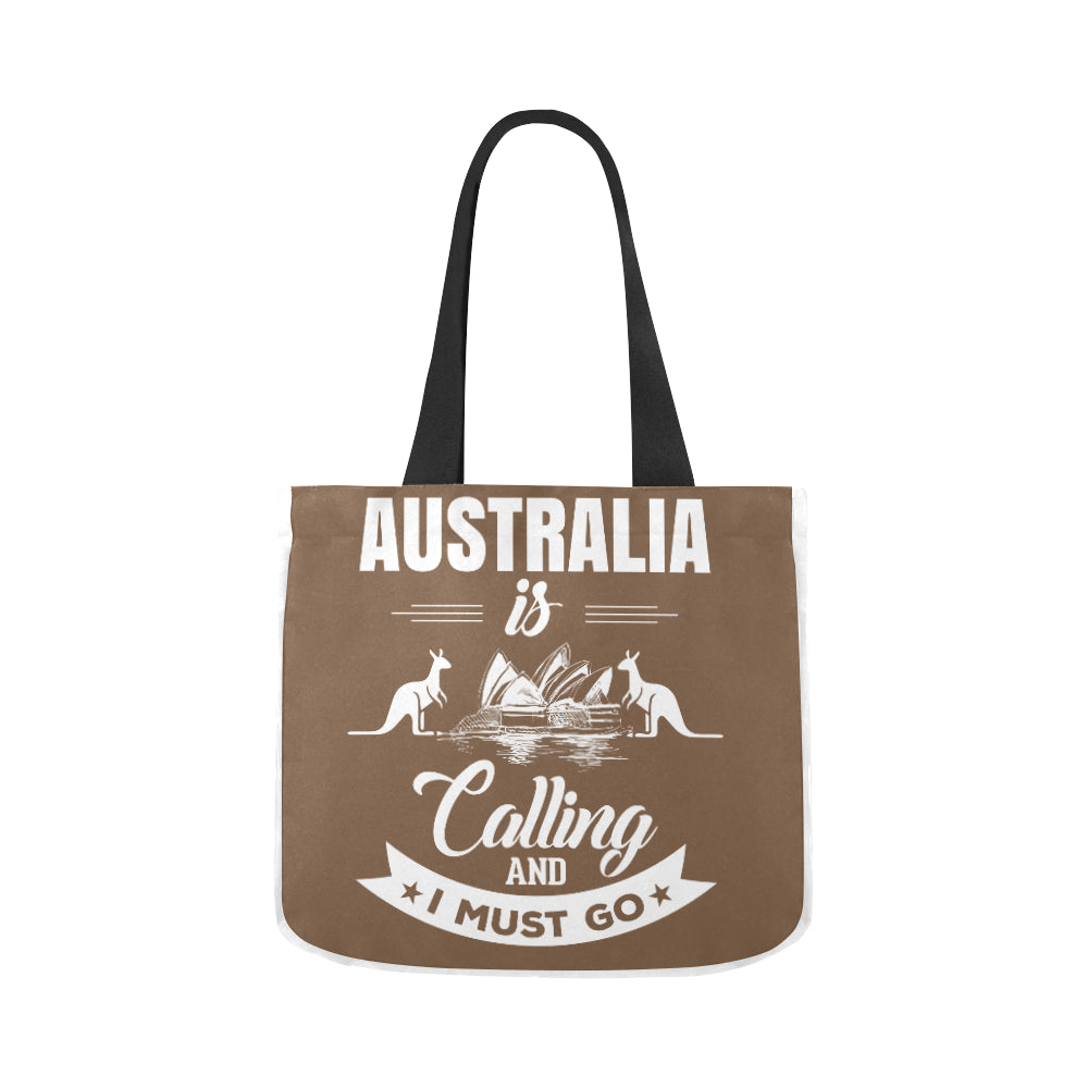 Australia Is Calling Limited Premium Quality Canvas Tote Bag 02 Model 1603 (Two sides) - CRE8Custom