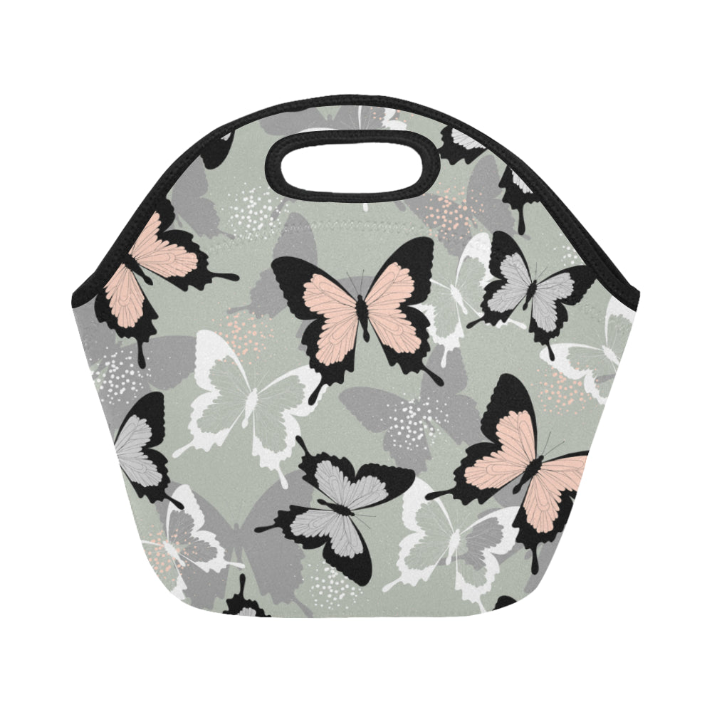 Spring And Summer Tropical Butterfly Neoprene Lunch Bag/Small