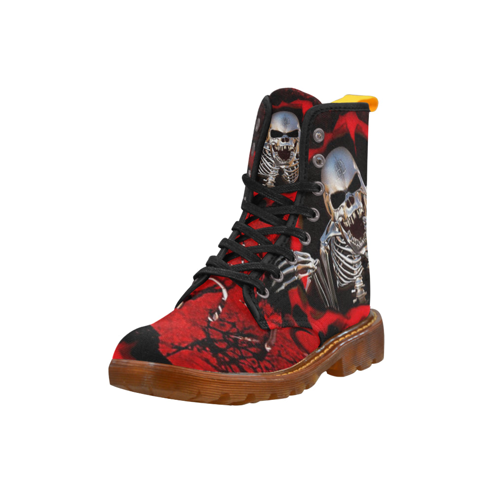 Awful Skull Martin Boots For Women - CRE8Custom