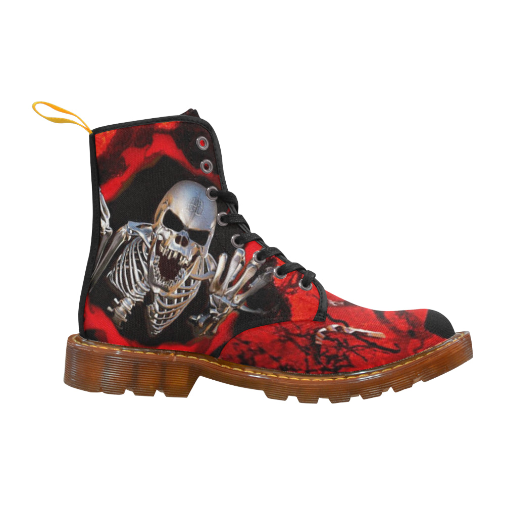 Awful Skull Martin Style Boots For Women Combat Boots - CRE8Custom