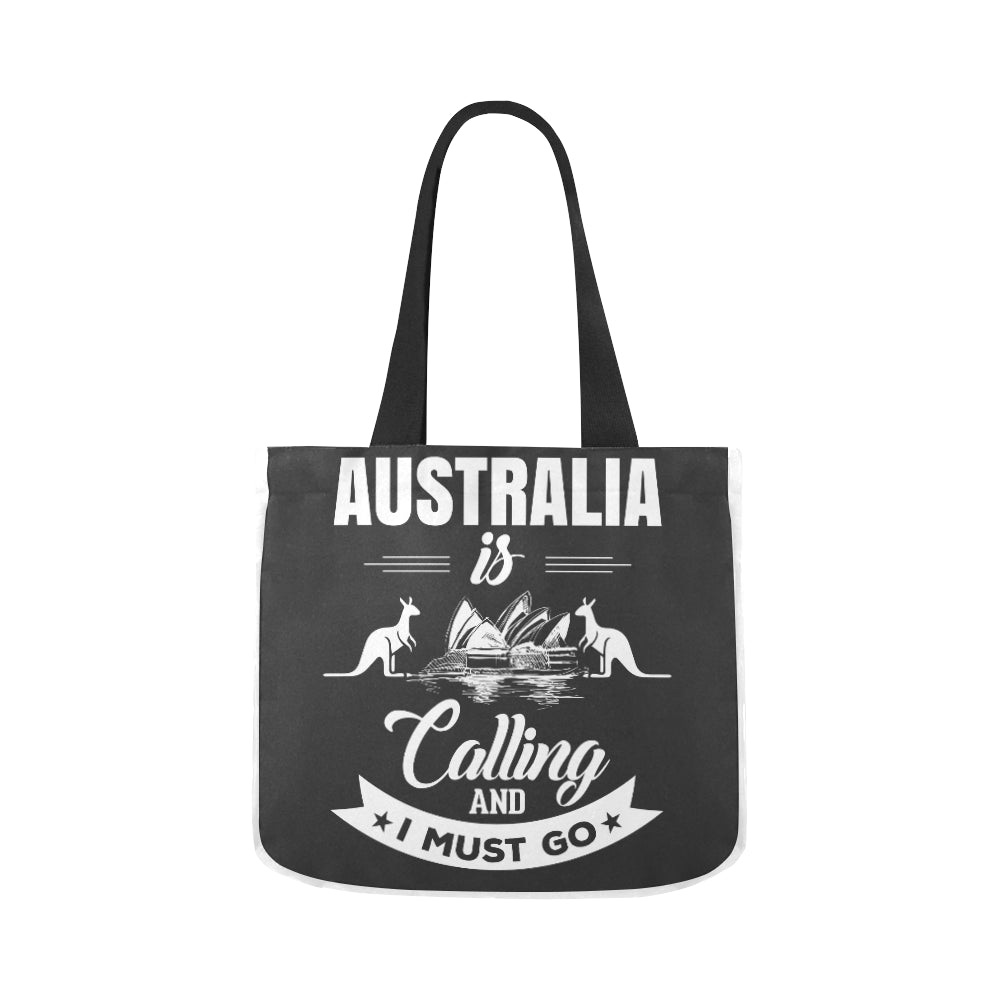 Australia Is Calling Black n White Premium Quality Canvas Tote Bag 02 Model 1603 (Two sides) - CRE8Custom