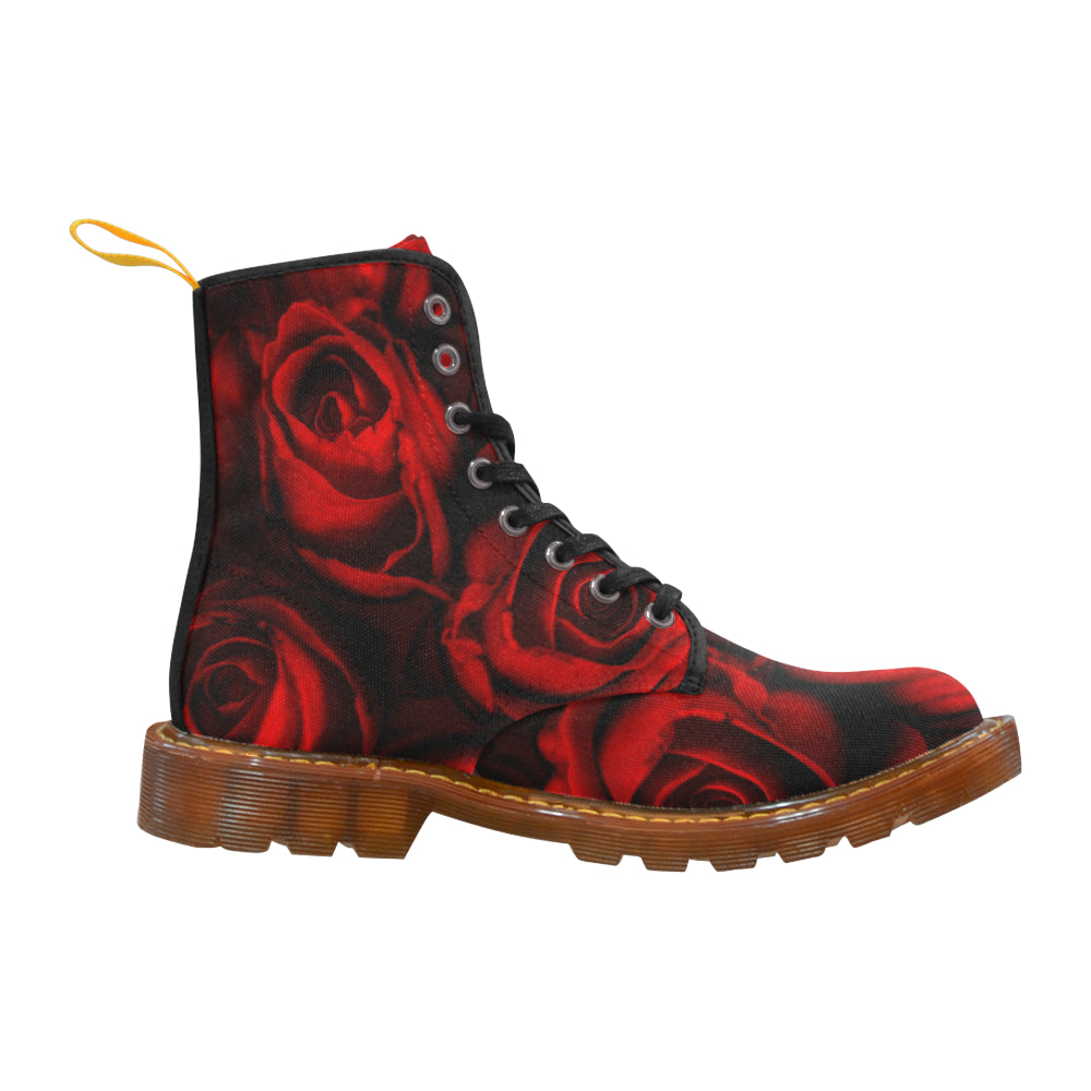 Beautiful Rose Martin Boots For Women - CRE8Custom