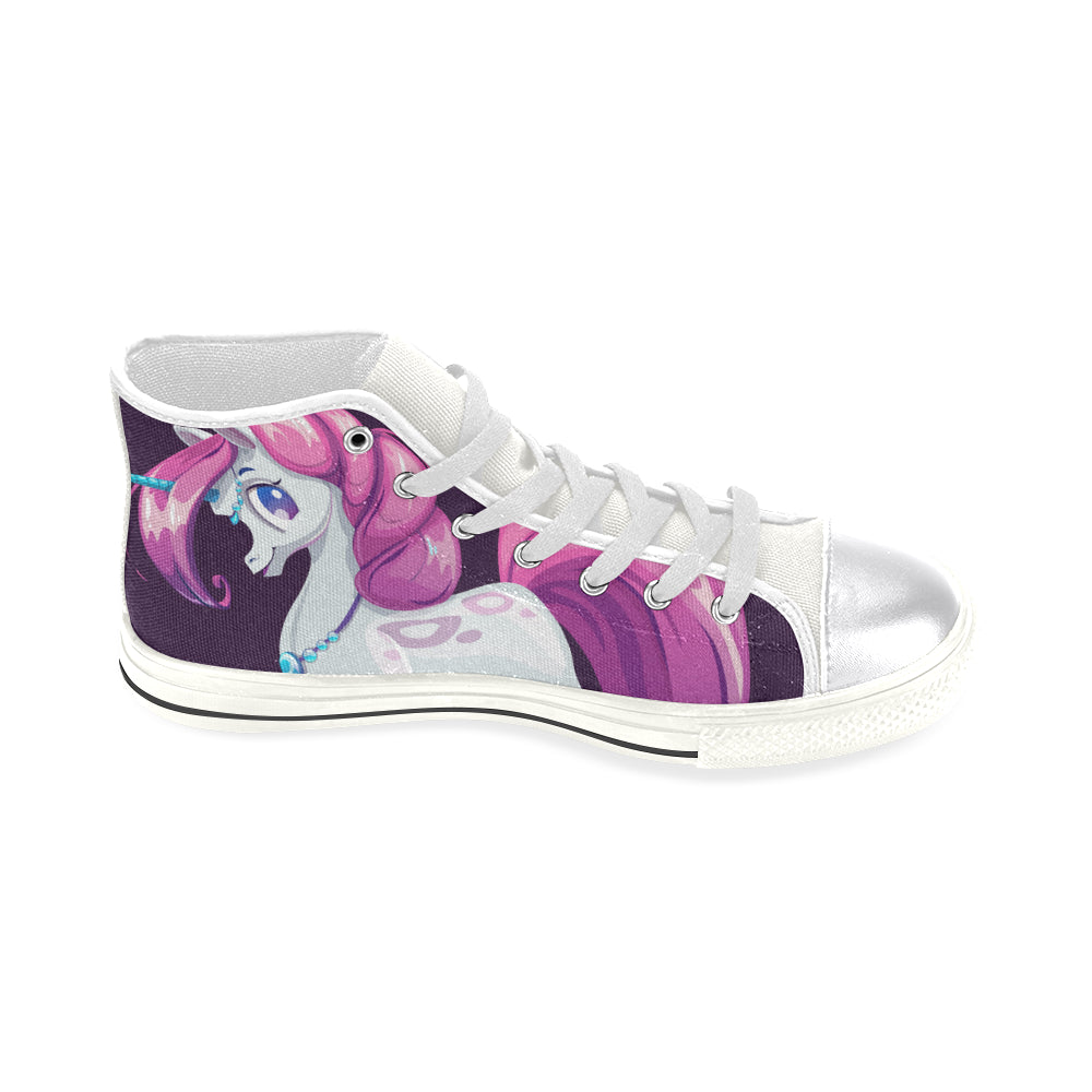 Awesome Design Unicorn Women's Classic High Top Canvas Shoes Casual Shoes - CRE8Custom