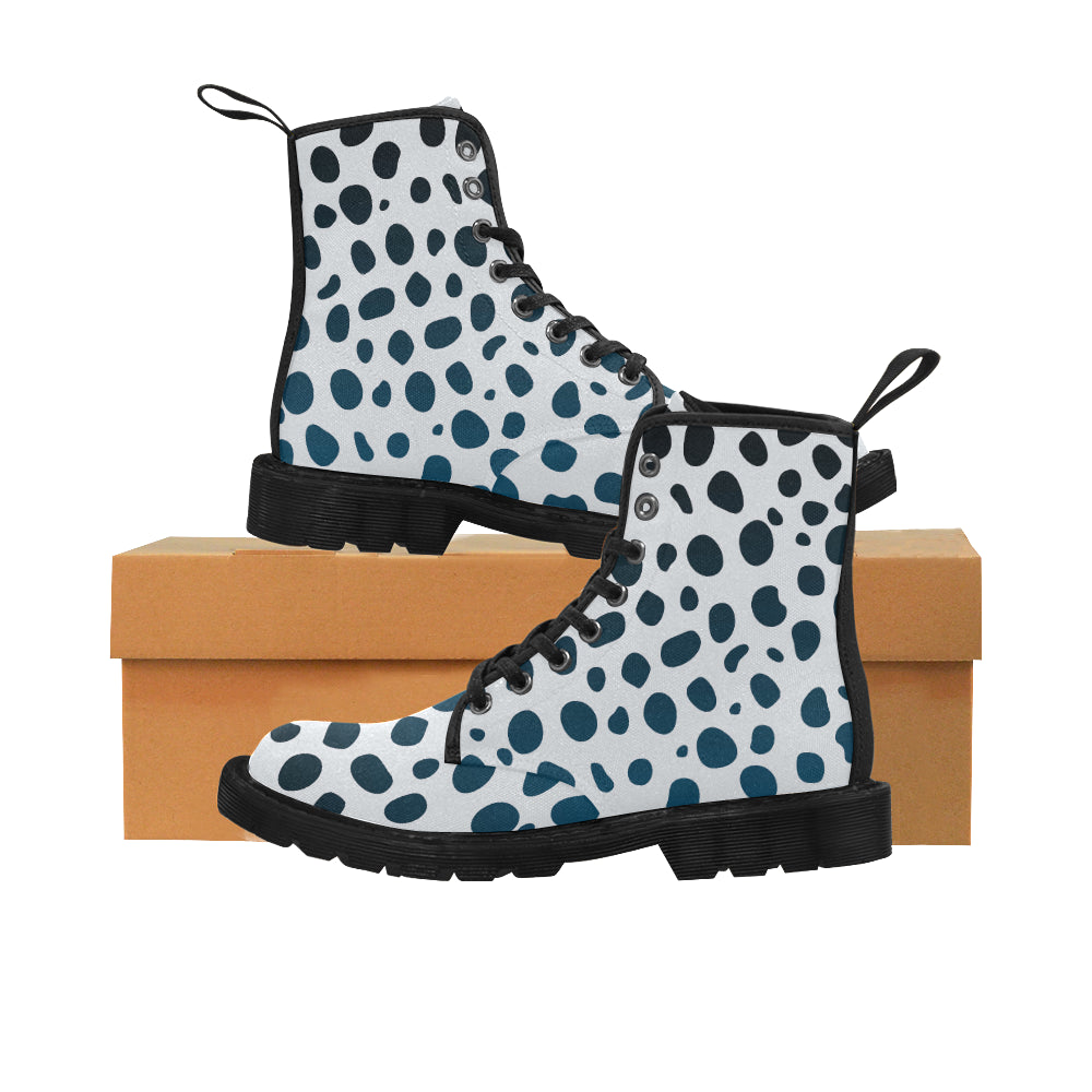 Animal Leopard Skin Martin Style Boots For Women Combat Boots - CRE8Custom