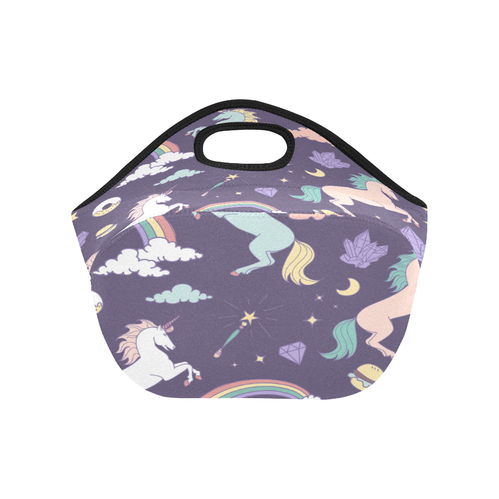 Magic seamless pattern with unicorn rainbow Neoprene Lunch Bag/Small