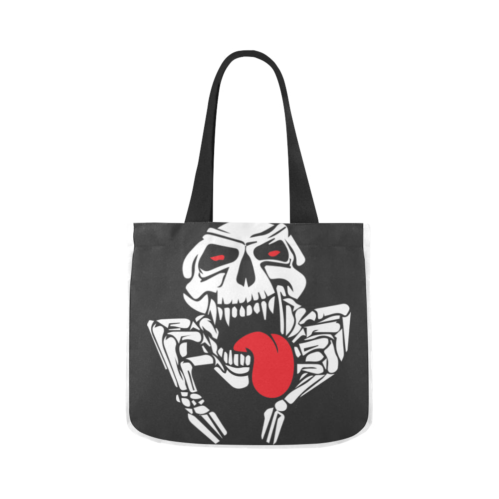 Angry Skull Creature Fun Premium Quality Canvas Tote Bag 02 Model 1603 (Two sides) - CRE8Custom