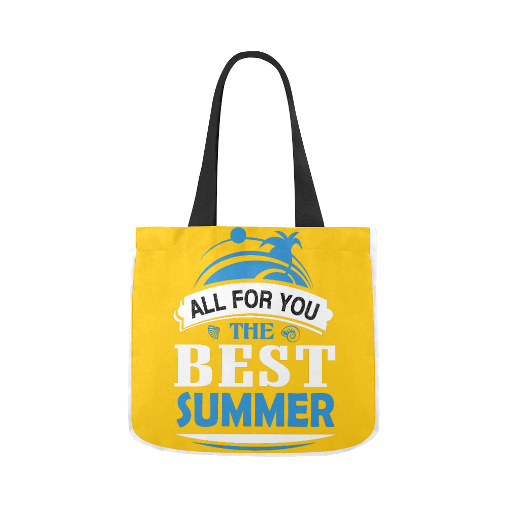 All For You The Best Summer Premium Quality Canvas Tote Bag 02 Model 1603 (Two sides) - CRE8Custom