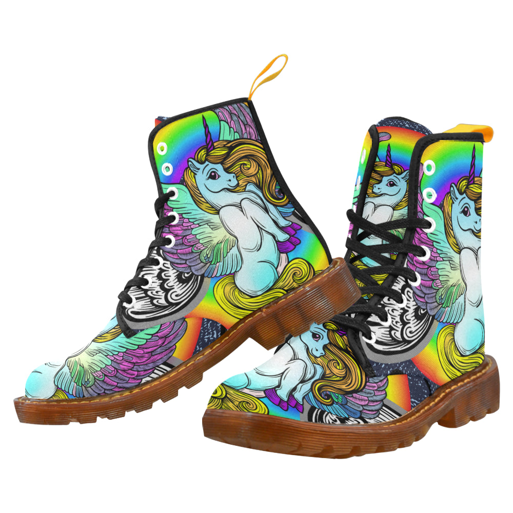 Amazing Custom Unicorn Martin Style Boots For Women Combat Boots - CRE8Custom