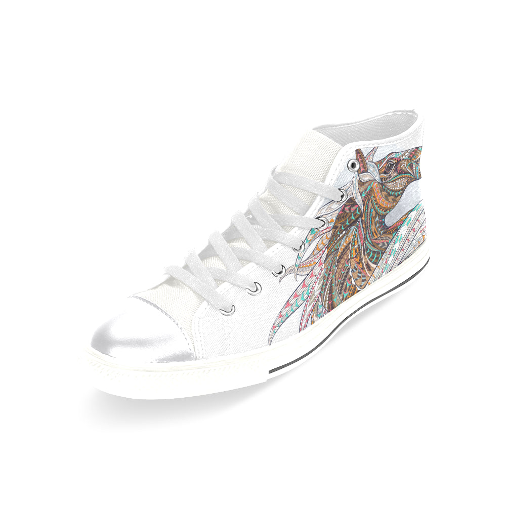 Awesome Unicorn Women's Classic High Top Canvas Shoes Casual Shoes - CRE8Custom
