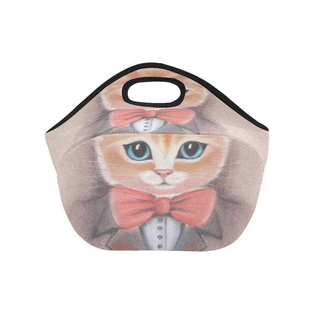 Kitten in a suit with a tie Neoprene Lunch Bag/Small