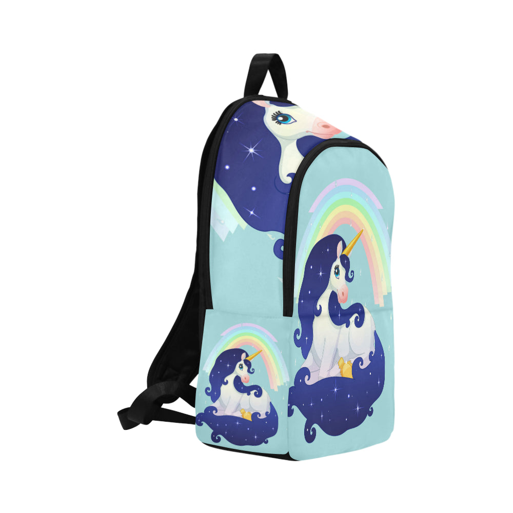Beautiful Space Unicorn rainbow Fabric Backpack for Adult - CRE8Custom