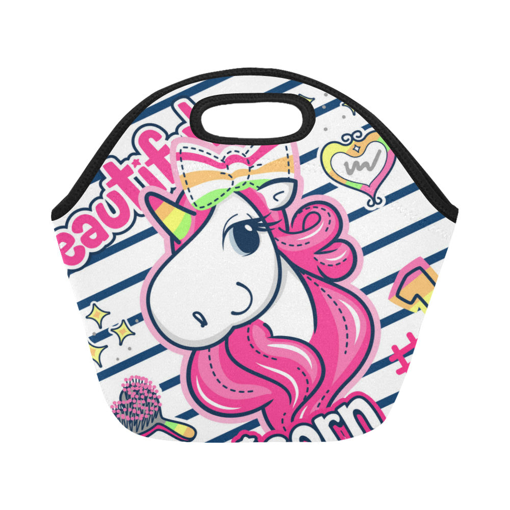 Beautiful Unicorn Neoprene Lunch Bag/Small - CRE8Custom