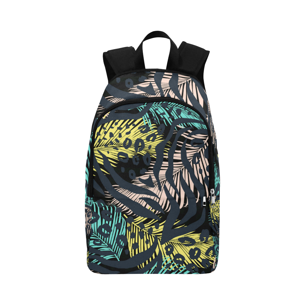 Abstract geometric animal pattern Fabric Backpack for Adult - CRE8Custom