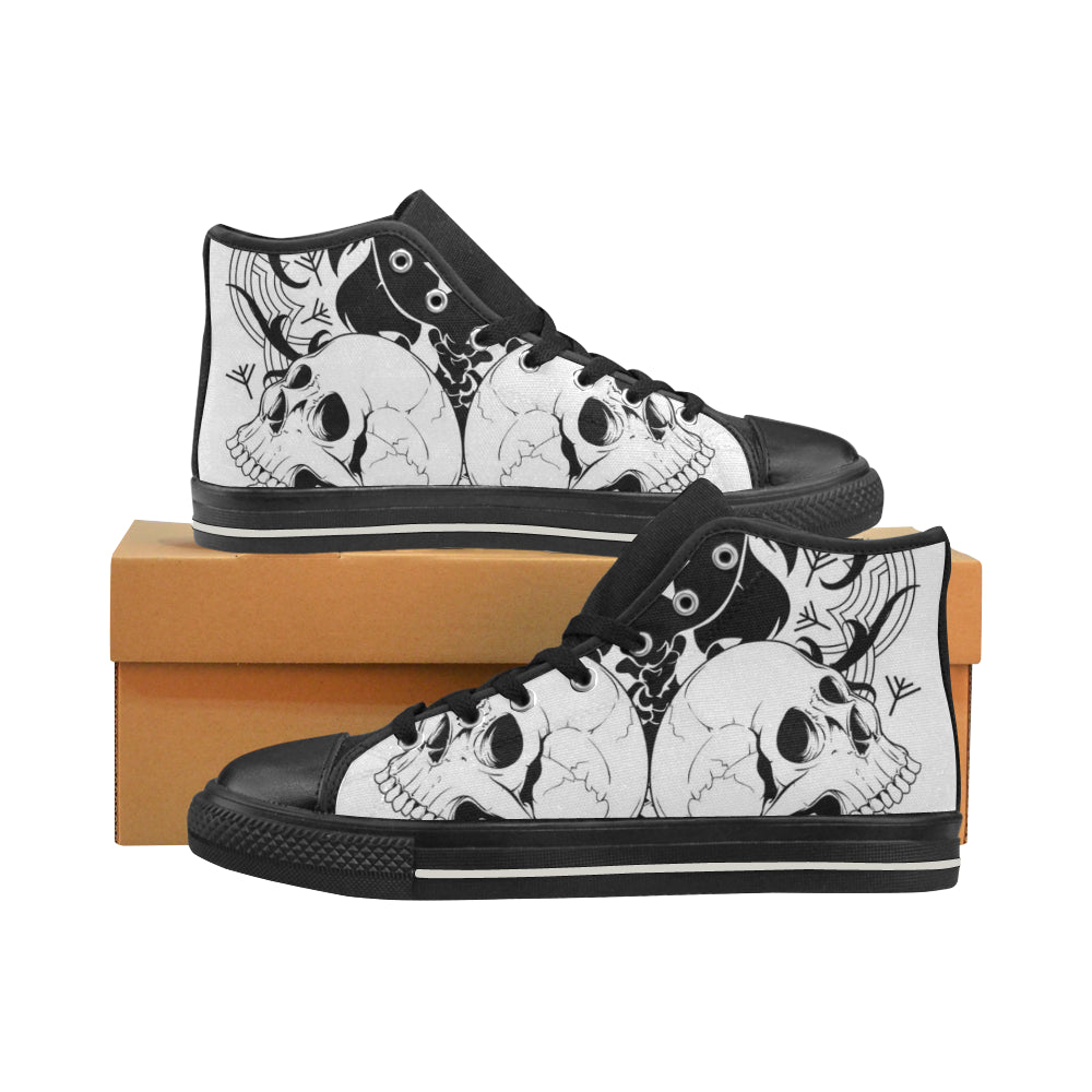 Amazing Skull Arts Women's Classic High Top Canvas Shoes Casual Shoes - CRE8Custom