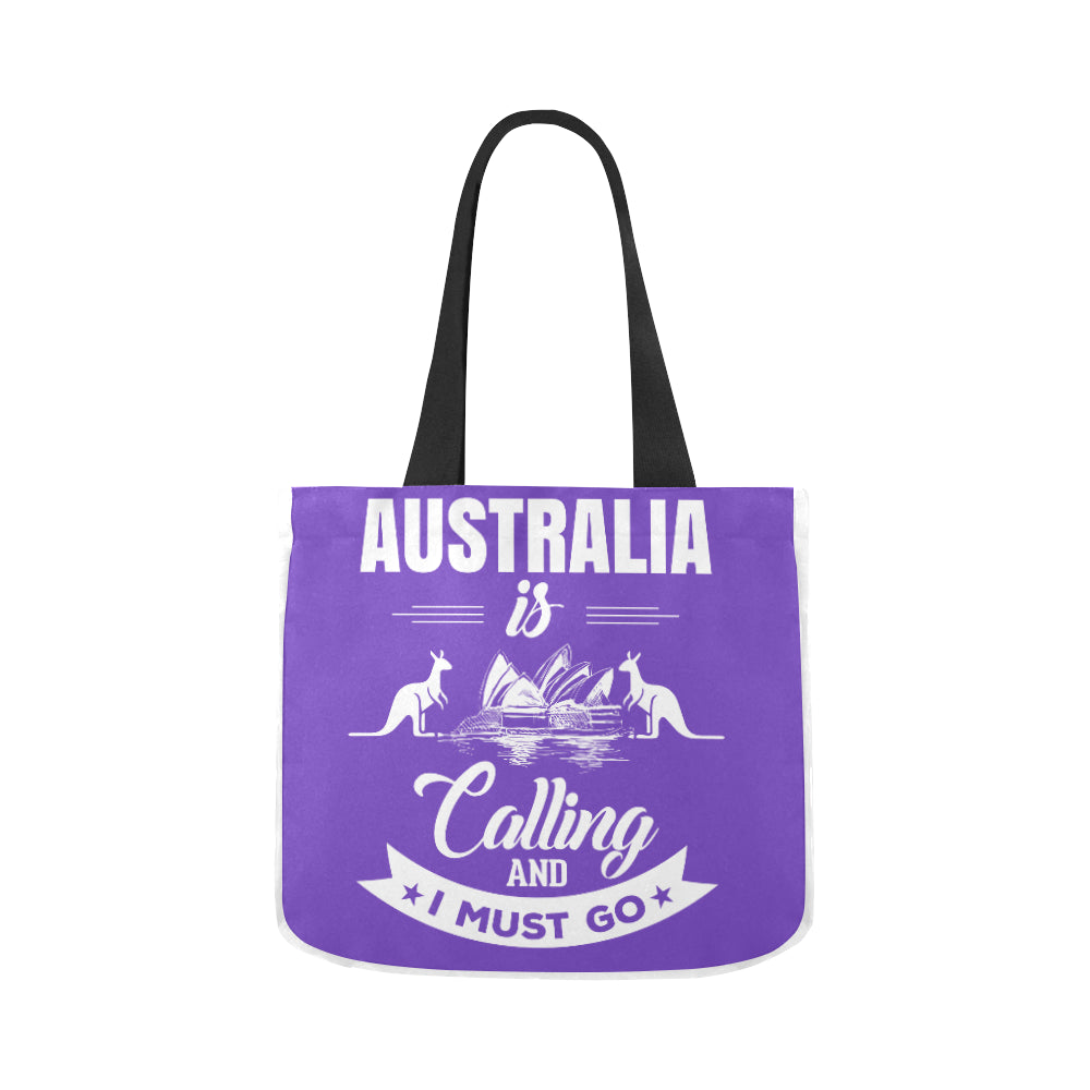 Australia Is Calling Blue n White Premium Quality Canvas Tote Bag 02 Model 1603 (Two sides) - CRE8Custom
