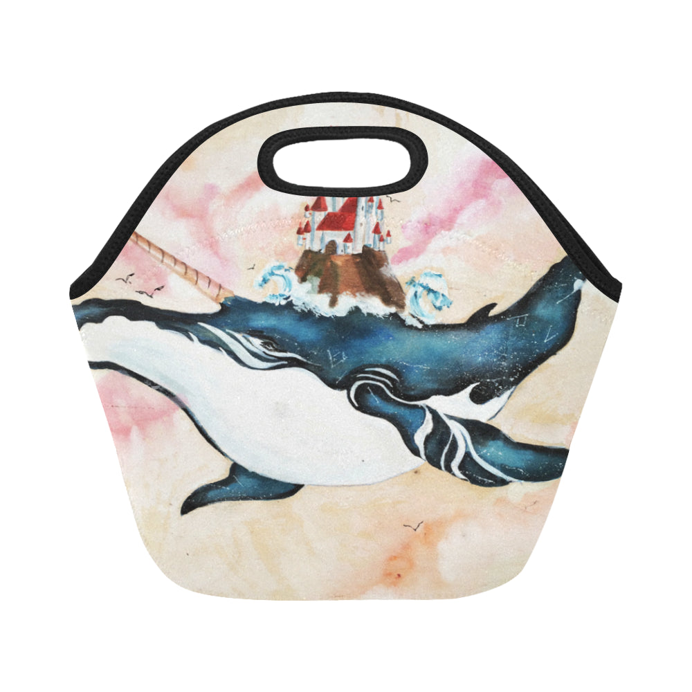 Great Whale Unicorn with Fortress Neoprene Lunch Bag/Small - CRE8Custom