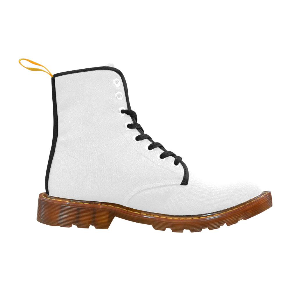 Awesome Classic White n Black Martin Style Boots For Women Combat Boots - CRE8Custom