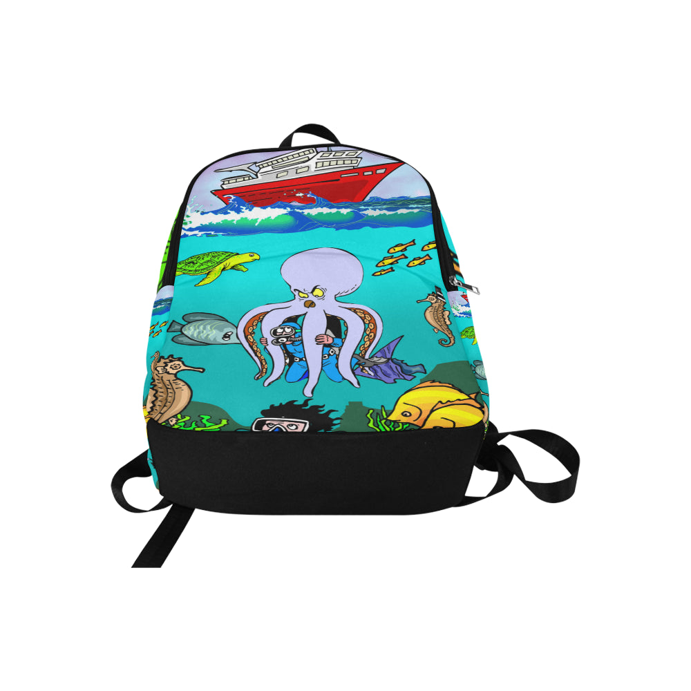 Cartoon Octopus Honey Fabric Backpack for Adult - CRE8Custom